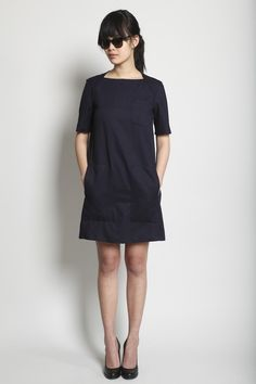 Jil Sander dress. My sister needs to learn how to sew this for me but in blue pink and green...and slightly longer.