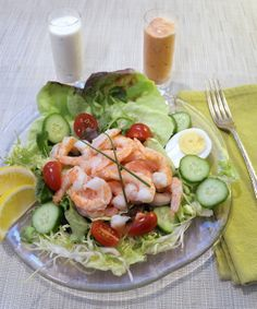 An eye catching salad that tastes just as good as it looks!  Guests will appreciate this for a lunch with some crusty bread and so will the host!  http://oracibo.com/recipe/shrimp-salad/
