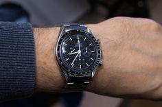 Omega Speedmaster 3592.50, made in 1992, hesalite crystal & sapphire case back, cal. 861, Omega 1998 bracelet, leather NATO