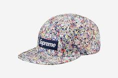 Supreme x Liberty Splatter Camp Caps
