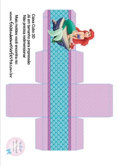 Caixa Cubo 3D Ariel Mermaid Theme Birthday, Little Mermaid Birthday, Little Mermaid Parties, Ariel The Little Mermaid, Couple Halloween Costumes For Adults, Couple Costumes, Adult Costumes, Fiesta Decorations, Disney Princess Party