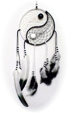 I've tried making a yin-yang dream catcher, but didn't turn out this nice!