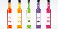"""New branding and packaging for a line of colorful syrups.    """"The label Durscher finest stands for a natural, high-quality syrup from the region which can be used for the refinement of food."""""""