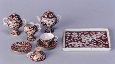 Tea set miniature porcelain Fukagawasei 深川製磁製 for Hina dolls - Arita 有田, Japan - 1890s