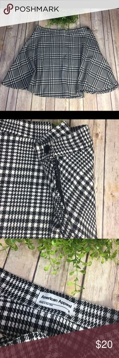 American Apparel Houndstooth Skirt Just so cute!   Houndstooth pattern, Made in USA  SIZE M  Please see measurement photo to ensure fit prior to purchase. American Apparel Skirts