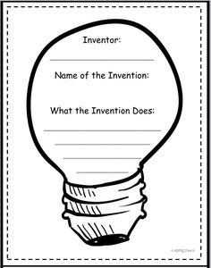 **Freebie**  Graphic Organizers (Inventions / Story Elements: setting, characters, events, problem/solution)