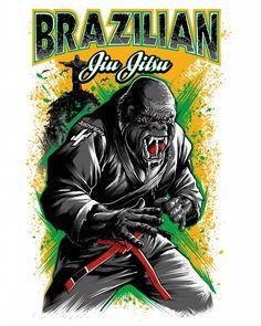 bjj-gorilla-t-shirt.jpg (819×1024)
