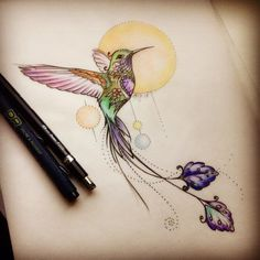 130 Meaningful Hummingbird Tattoo Designs nice