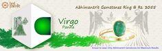 #AajmaKarDekho Abhimantrit Gemstones Ring Virgo ( Panna ).......for more details visit http://www.buyrashiratan.com