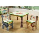 Found it at Wayfair - Dinosaur Kingdom Children's 3 Piece Table and Chair Set----SO CUTE!