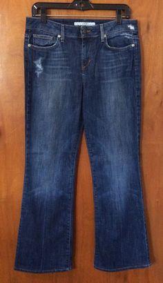 EUC JOES MUSE Jeans Size 29 Mid Rise Straight Leg Dark Distressed Denim Pant #JoesJeans #StraightLegBootCut