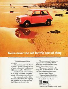 Classic Original Adverts as Gifts or Wall Art by RetroAdverts Automobile, Classic Mini, Classic Auto, Classic Cars, Mini Clubman, Gifts For My Boyfriend, Jaguar E Type, Old Magazines, Mini Me