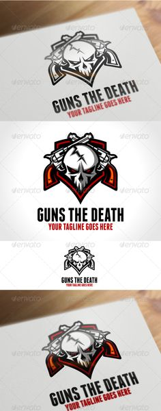 Guns The Death Logo Template - Humans Logo Templates