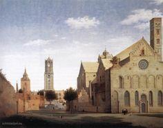 Pieter Jansz Saenredam, 'St Mary's Square en St. Mary's Church in Utrecht (1662)'