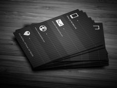 Check out Metro Dark Business Card by bouncy on Creative Market