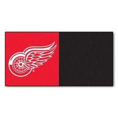 FANMATS NHL - Chicago Blackhawks Team Carpet Tiles NHL Team: Detroit Red Wings