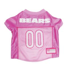 I'm learning all about Doggie Nation.com Chicago Bears Pink Dog Jersey Small at @Influenster!