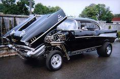 '57 Chevy Bel Air Flip-front gasser