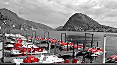 Lugano en Blanco y negro en Suiza