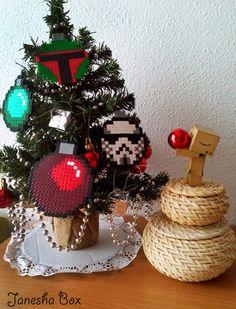 Ideas para decorar el árbol de navidad con Hama Beads