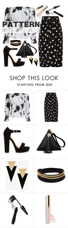 """""""Pattern Mixing; Floral & Polka Dots"""" by dellysunicorn ❤ liked on Polyvore featuring Andrea Marques, Yves Saint Laurent, Vita Fede, Lancôme, Beautycounter and Chapstick"""