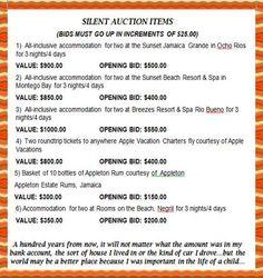 silent auction basket ideas | SILENT AUCTION ITEMS