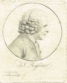 Jean-Jacques ROUSSEAU (1712-1778) - dessiné par Quenedey - ce portrait n'a pas été réalisé par le physionotrace qui n'a été inventé qu'en 1784 soit 6 ans après la mort de Jean-Jacques Rousseau.