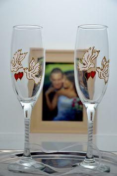 ręcznie malowane kieliszki ślubne - Sub-Art - Akcesoria