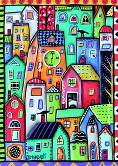 "Puzzle EDUCA ""6 pm, Karla Gerard"", 500 piezas #art #illustration #color #karlagerard"