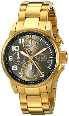 Invicta Womens 17425 IForce Analog Display Japanese Quartz Gold Watch * Continue to the product at the image link.