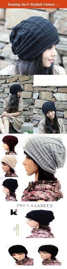 065e1d66 Dealzip Inc® Stylish Unisex Black Woven Knit Crochet Plicated Baggy Slouch  Warm Winter Hat Cap