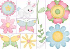 Clipart de Animales y Plantas para Pascua.
