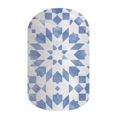 Normandy   Jamberry   Featuring a gorgeous rustic blue and white geometric pattern in a matte finish, 'Normandy' perfectly captures the quaint French style.