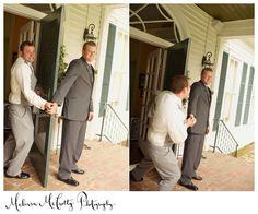 Guys having fun on the wedding day!