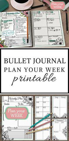 Bullet Journal Printables - Weekly Planner - #ad #bulletjournal #planner