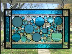 Circle stained Glass Panel
