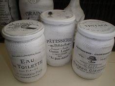 muurvuller action Lenotre, Pots, Handmade Envelopes, New Toilet, Vintage Cards, Cement, Decoupage, Diy And Crafts, Jars