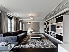 A bit more modern: It seems like the TV room was the only one in the house to be kitted out in a more modern design