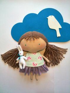 Regalos del bebé muñeca Tilda para niñas trapo muñeca conejito