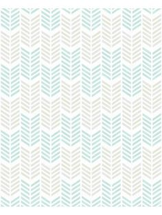 Papier peint Fluo Oiti, chevrons taupe bleu. Graham & Brown