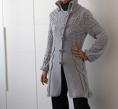 Ravelry: Minimissimi Sweater Coat pattern by Cristina Ghirlanda.. Might do this one!