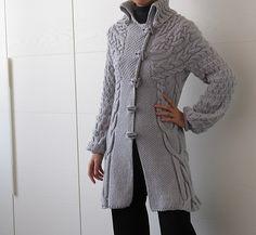 Ravelry: Minimissimi Sweater Coat pattern by Cristina Ghirlanda.. Might do this one!