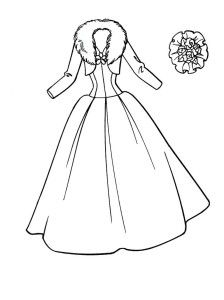 printable wedding dress coloring pages for girls