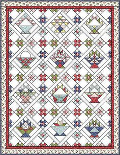 12 FREE Basket quilt block patterns by Sandi Walton at Piecemeal ... : basket quilt - Adamdwight.com
