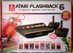 new #atari flashback 6  100 preloaded classic video games 2 wireless controllers from $49.99