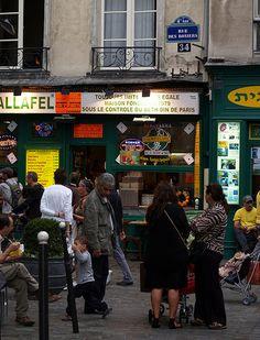 L'As du Falafel, rue des Rosiers, Le Marais--best falafel in town