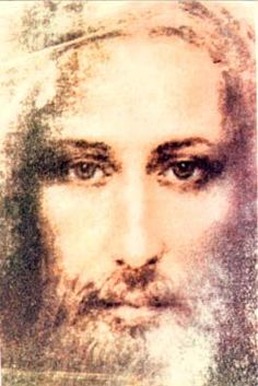 Jesus Christ painted from the Shroud of Turin - Beautiful Pictures Of Christ, Religious Pictures, Religious Art, Jesus Face, Divine Mercy, Jesus Is Lord, Orthodox Icons, Sacred Art, Christian Art