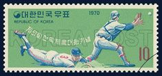 COMMEMORATIVE STAMP FOR THE 51th NATIONAL ATHLETIC GAMES, Baseball, Sports, Green, 1970 10 06, 제51회 전국 체육대회 기념, 1970년 10월 6일, 708, 야구, postage 우표