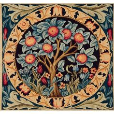William Morris Orange Tree Detail Counted Cross Stitch Chart by Orenco Originals William Morris Patterns, William Morris Art, Cross Stitch Pictures, Arts And Crafts Movement, Tapestry Weaving, Counted Cross Stitch Patterns, Art Nouveau, Nouveau Tattoo, Design Art