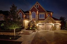 Front Exterior~ Night time shot~ Asking $2,249,900 ~ 64 Rainbow's End, Kleinburg, Ontario~ www.michaeljallan.com